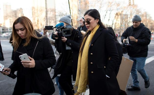 Emma Coronel, la femme d'El Chapo, arrive au tribunal de Brooklyn peu après le début des délibérations le 4 février 2019 à New York   [Don Emmert / AFP]