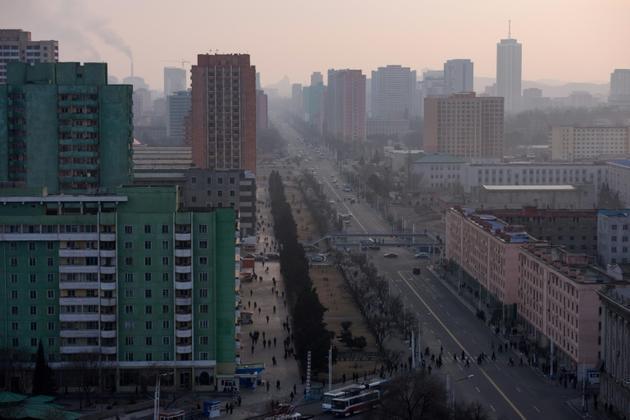 Vue de Pyongyang, le 9 mars 2019 [Ed JONES / AFP]