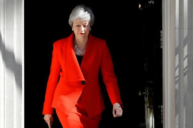 La Première ministre britannique Theresa May lors de l'annonce de sa démission, le 24 mai 2019 à Londres [Tolga AKMEN / AFP/Archives]
