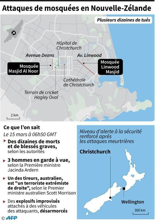 Attaques de mosquées en Nouvelle-Zélande [Vincent LEFAI / AFP]