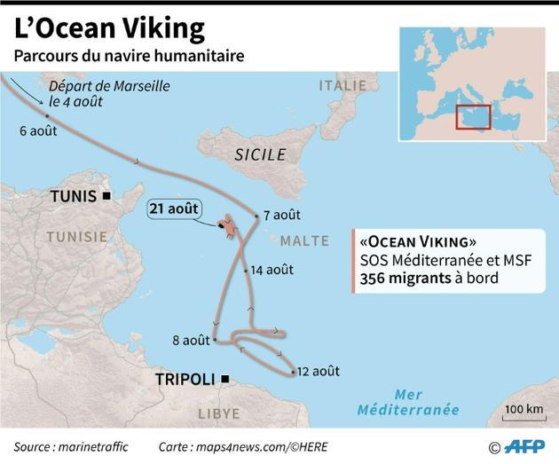 L'Ocean Viking [Jean-Michel CORNU / AFP]