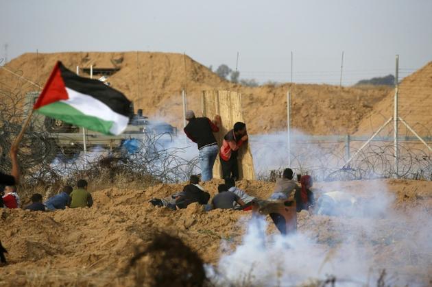 Heurts à la frontière entre Israël et la bande de Gaza, le 26 avril 2019 [Said KHATIB / AFP/Archives]