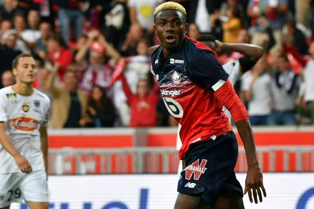 L'attaquant de Lille Victor Osimhen buteur lors de la victoire à domicile 2-1 sur Angers le 13 septembre 2019 [DENIS CHARLET / AFP]