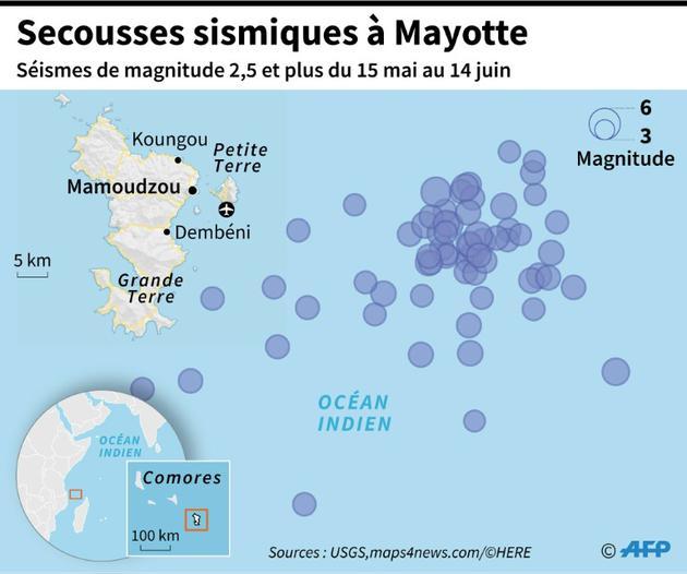 Secousses sismiques à Mayotte [Simon MALFATTO / AFP]