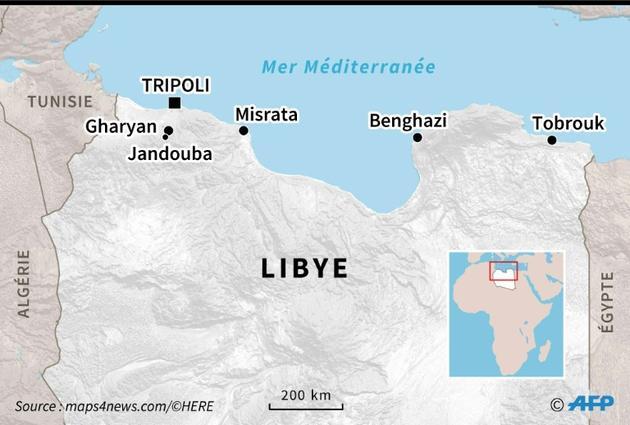 Carte du nord de la Libye [Vincent LEFAI / AFP]