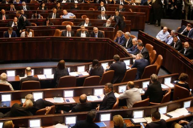 Les députés israéliens votent une loi pour dissoudre le parlement, le 29 mai 2019 à Jérusalme [Menahem KAHANA / AFP]
