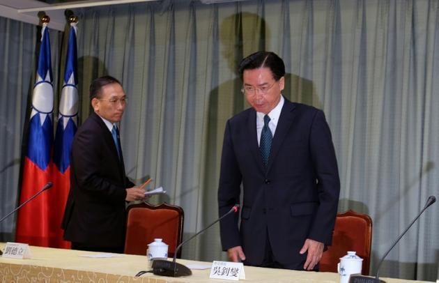 Le ministre taïwanais des Affaires étrangères Joseph Wu à Taipei, le 21 août 2018  [SAM YEH / AFP]