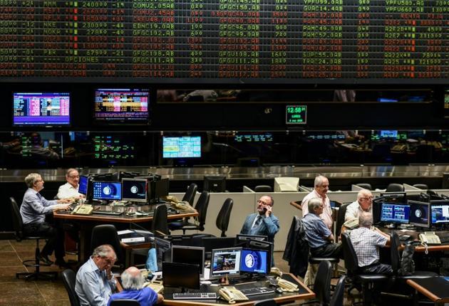 La Bourse de Buenos Aires, le 9 mars 2020 [RONALDO SCHEMIDT / AFP/Archives]