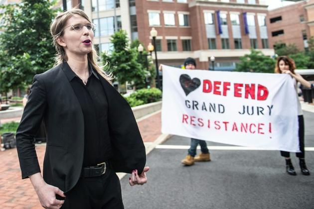 L'ex-analyste militaire américaine Chelsea Manning à son arrivée au tribunal fédéral d'Alexandria, près de Washington, le 16 mai 2019 [Eric BARADAT / AFP]