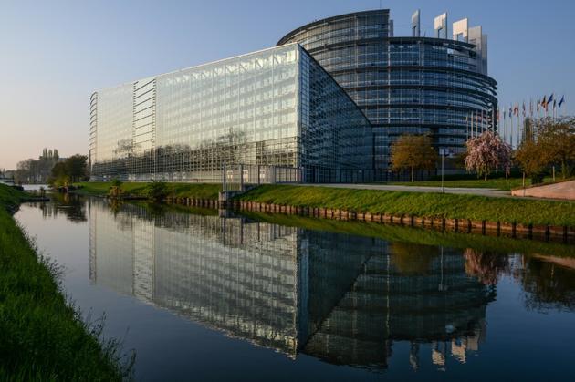 Photo du siège du Parlement européen à Strasbourg (France) le 5 avril 2017. [SEBASTIEN BOZON / AFP]