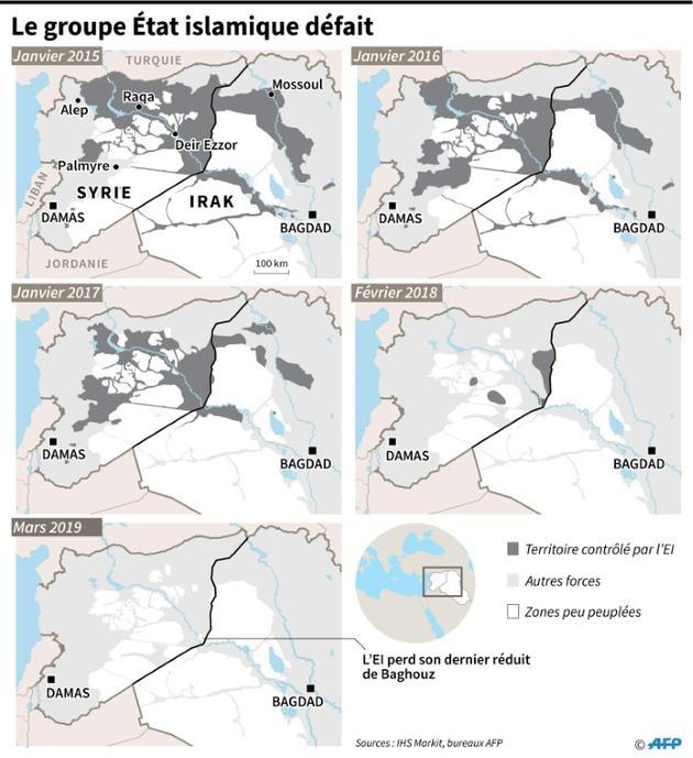 La défaite du groupe Etat islamique [Simon MALFATTO / AFP]