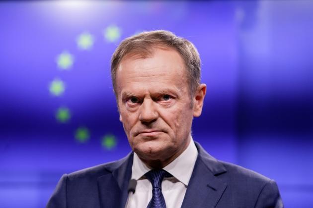 Le président du Conseil européen Donald Tusk à Bruxelles le 6 février 2019 [Aris Oikonomou / AFP]