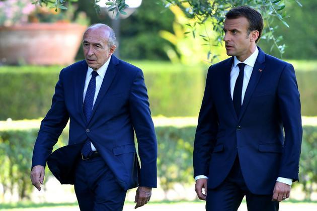 Emmanuel Macron et Gérard Collomb à Rome le 26 juin 2018 [Alberto PIZZOLI / AFP/Archives]