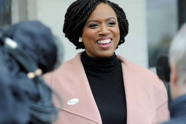 L'élue démocrate Ayanna Pressley, le 6 novembre 2018 [Joseph PREZIOSO / AFP/Archives]