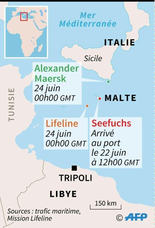 Bateaux de migrants [Simon MALFATTO / AFP]