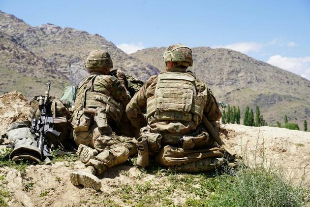 Des soldats américains dans la province afghande de Wardak, le 6 juin 2019 [THOMAS WATKINS / AFP/Archives]