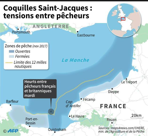 Coquilles Saint-Jacques ; tensions entre pêcheurs [Jean Michel CORNU / AFP]