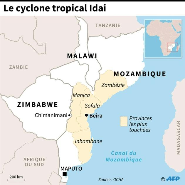 Le cyclone tropical Idai [Vincent LEFAI / AFP]
