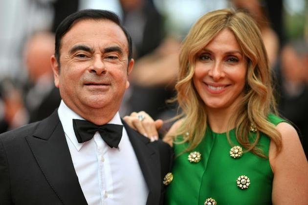 Carlos Ghosn et son épouse Carole au festival de Cannes, le 26 mai 2017 [LOIC VENANCE / AFP/Archives]