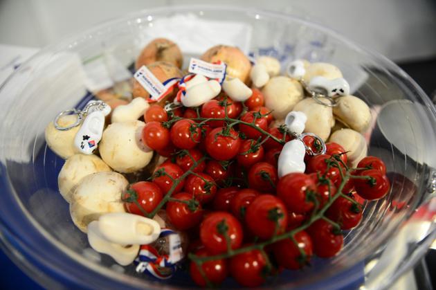 Un plat de légumes présenté lors de la Semaine verte de l'agriculture à Berlin le 18 janvier 2013 [JOHANNES EISELE / AFP/Archives]