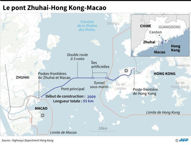Le pont Zhuhai-Hong Kong-Macao  [Laurence CHU / AFP]