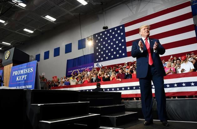 Le président Trump s'était rendu dans l'Ohio. Ici au Lewis Center, le 4 août 2018. [MANDEL NGAN / AFP]