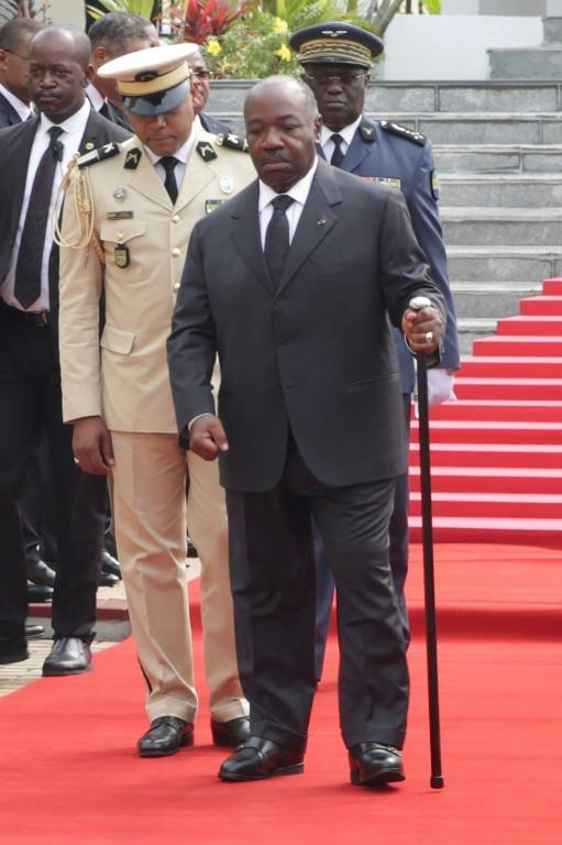 Le président du Gabon Ali Bongo le 16 août 2019 à Libreville lors d'une cérémonie d'hommage au premier président du pays [STEVE JORDAN / AFP/Archives]