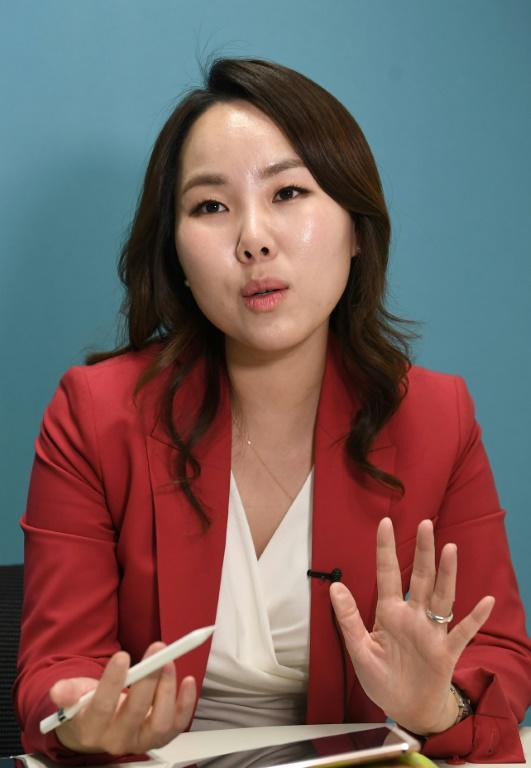 L'avocate Seo Hye-Jin, le 5 mars 2018 à Séoul<br />  [Jung Yeon-je / AFP/Archives]