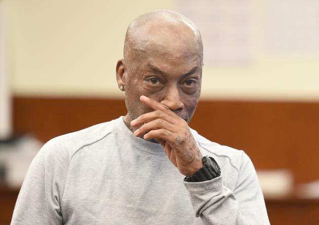 Dewayne Johnson, après avoir entendu le verdict dans le procès qui l'opposait au géant Monsanto, le 10 août 2018 à San Francisco en Californie [JOSH EDELSON / AFP]