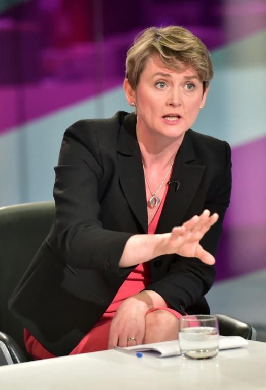 La députée travailliste Yvette Cooper dans un débat télévisé à Londres, le 1er septembre 2015 [LEON NEAL / AFP/Archives]
