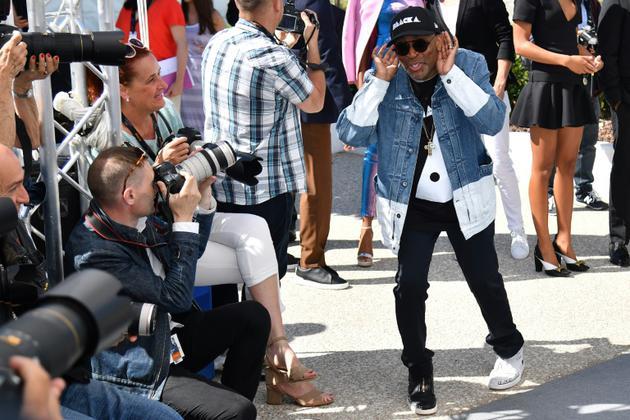 Le réalisateur américain Spike Lee, à Cannes le 15 mai 2018 [Alberto PIZZOLI / AFP]