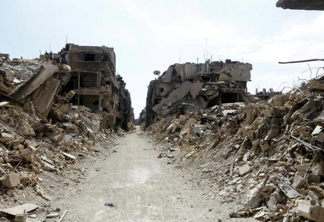 Destructions près de Damas le 9 octobre 2018. [LOUAI BESHARA / AFP/Archives]