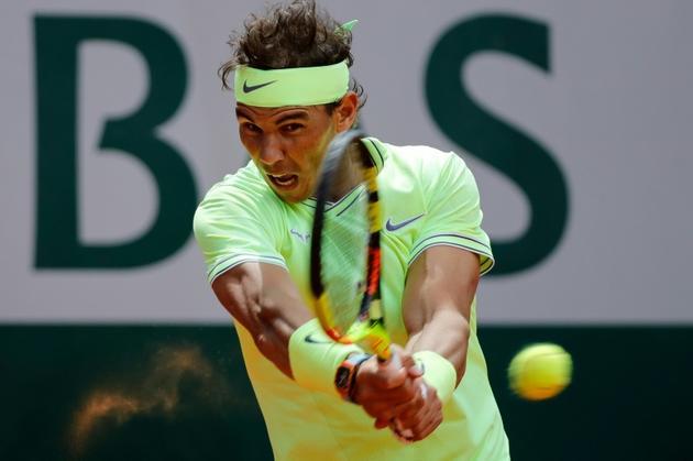 Rafael Nadal élimine Roger Federer en demi-finale de Roland-Garros le 7 juin 2019 [Thomas SAMSON / AFP]
