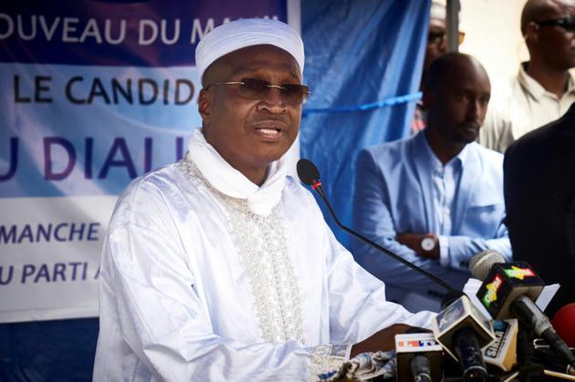 L'homme d'affaires malien Aliou Boubacar Diallo, candidat à la présidentielle, le 17 juin 2018 à Bamako [Michele CATTANI / AFP/Archives]