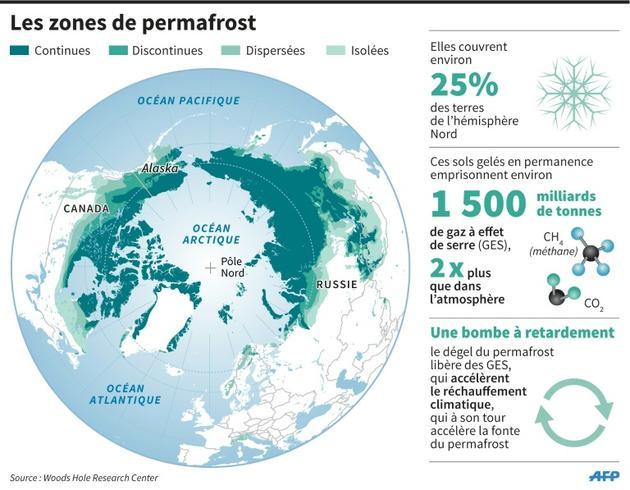 Les zones de permafrost [S.Ramis/A.Bommenel, abm/fh / AFP]