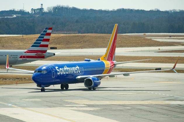 Un Boeing 737 MAX 8 de Southwest Airlines, à Baltimore le 13 mars 2019 [Jim WATSON / AFP/Archives]
