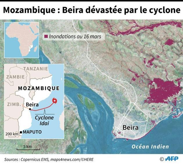 Mozambique: Beira dévastée par le cyclone [Vincent LEFAI / AFP]