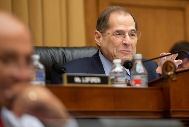Jerry Nadler, élu démocrate et président de la commission judiciaire de la Chambre des représentants, le 8 février 2019 au Congrès américain [SAUL LOEB / AFP/Archives]