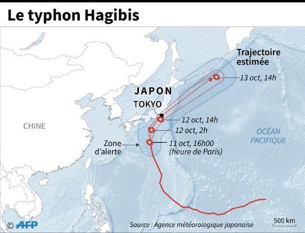 Le typhon Hagibis [Laurence CHU / AFP]
