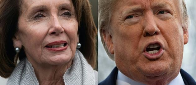 Le président américain Donald<br /> Trump et la nouvelle présidente démocrate de la Chambre des représentants, Nancy Pelosi   [SAUL LOEB, Jim WATSON / AFP]