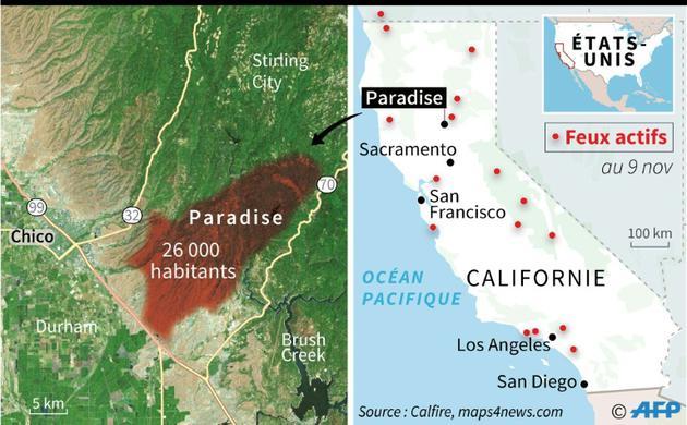 Feux en Californie [ / AFP]