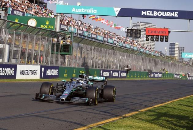 Valtteri Bottas impérial sur le circuit Albert Park de Melbourne, le 17 mars 2019 [WILLIAM WEST / AFP]