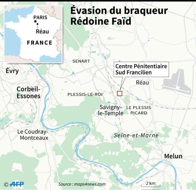Evasion du braqueur Rédoine Faïd [Kun TIAN / AFP]