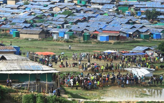 Le camp de réfugiés de Jamtoli dans le district de Ukhia, près de Cox's Bazar, au Bangladesh. Le 22 août 2018 [Dibyangshu SARKAR / AFP]