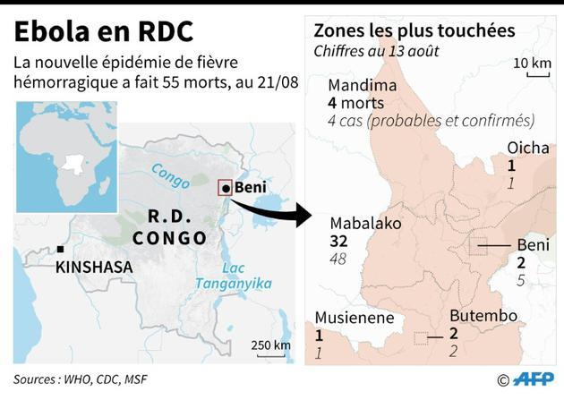Ebola en RDC [Laurence CHU / AFP]