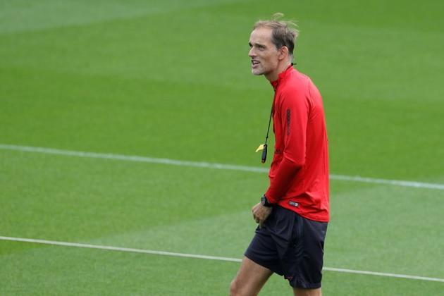 Thomas Tuchel, l'entraîneur allemand du PSG, le 17 septembre 2019 à Saint-Germain-en-Laye (banlieue parisienne) [GEOFFROY VAN DER HASSELT / AFP]