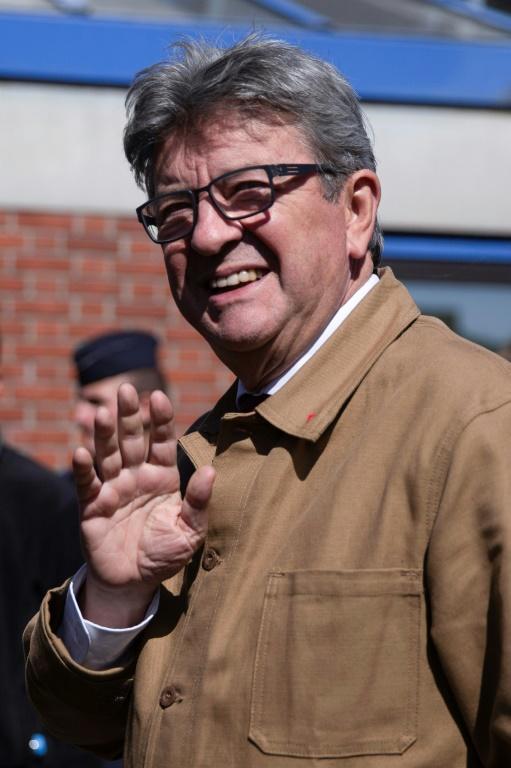 Jean-Luc Mélenchon devant le tribunal de Bobigny, le 19 septembre 2019 [Clemence CURTY / AFP]