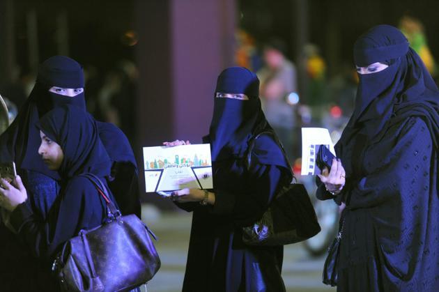 Des Saoudiennes participent à un atelier de conduite à Ryad, le 21 juin 2018 [FAYEZ NURELDINE / AFP]