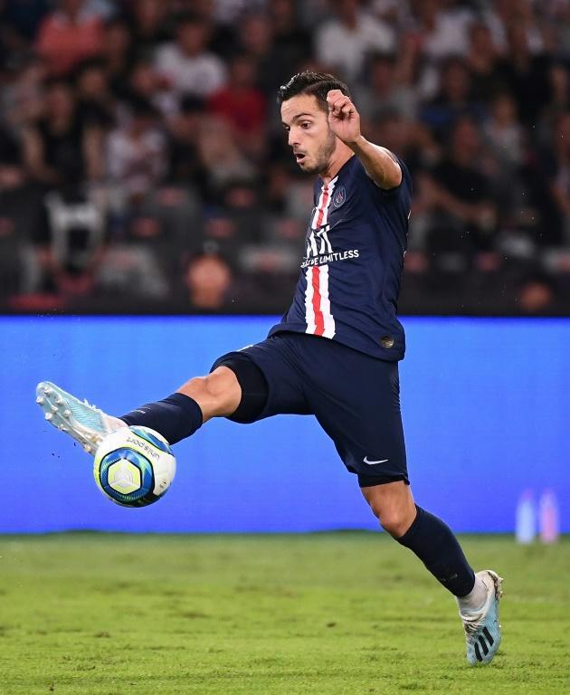 Le milieu espagnol du Paris-SG, Pablo Sarabia, lors du Trophée des champions face à Rennes, à Shenzhen en Chine, le 3 août 2019 [FRANCK FIFE / AFP/Archives]