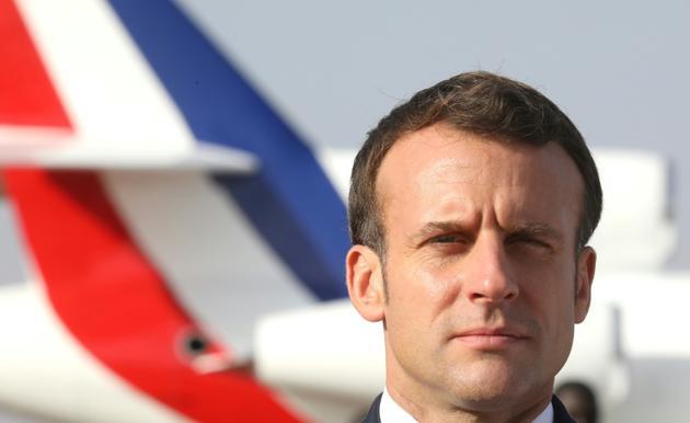 Emmanuel Macron le 22 décembre 2019 au Niger [Ludovic MARIN / POOL/AFP/Archives]